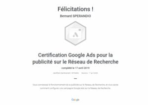 Certification Google Ads (Adwords)