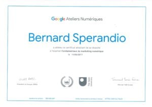 Certification Google Marketing numerique