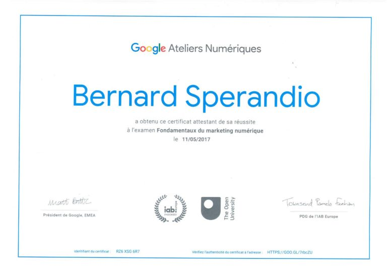 Google marketing numérique