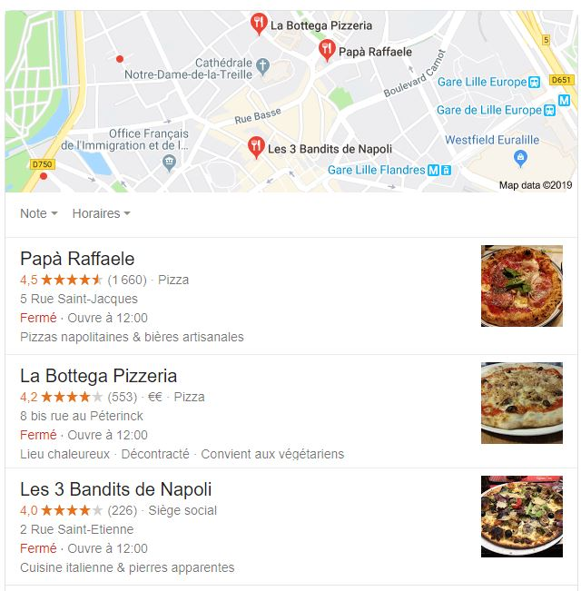 Pack local Google
