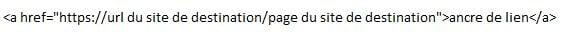 Exemple de lien sortant en code HTML