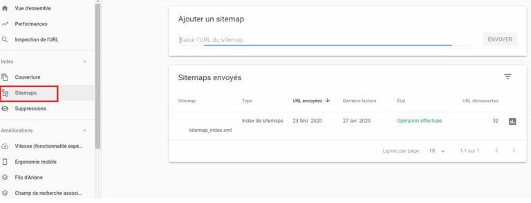 Google Search Console - Sitemaps XML