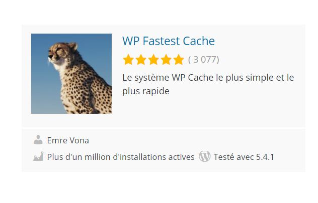 Plugin WP Fastest Cache