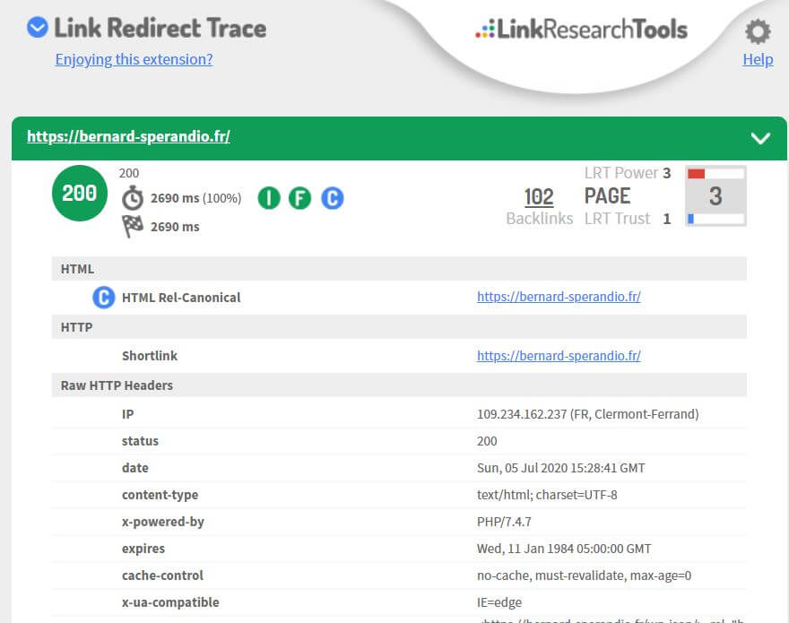 Extension SEO Chrome Link Redirect Trace