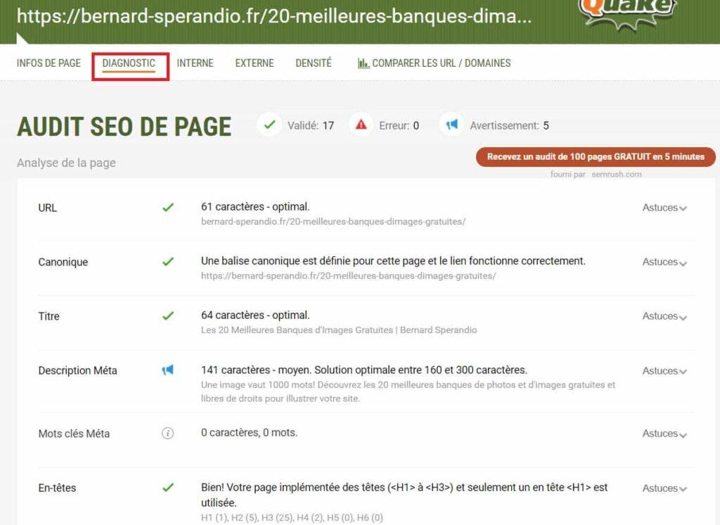 Extension SEO Chrome SEOquake - Audit SEO On-Page