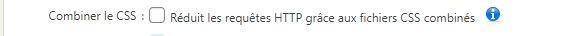 Combiner le CSS - WP Fastest Cache