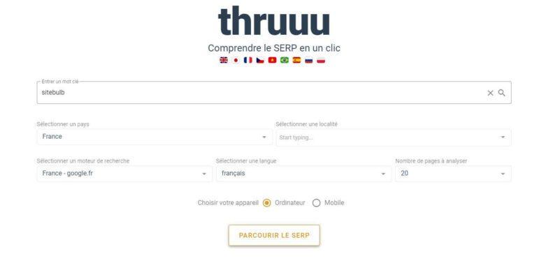 Renseigner les informations demandées par Thruuu