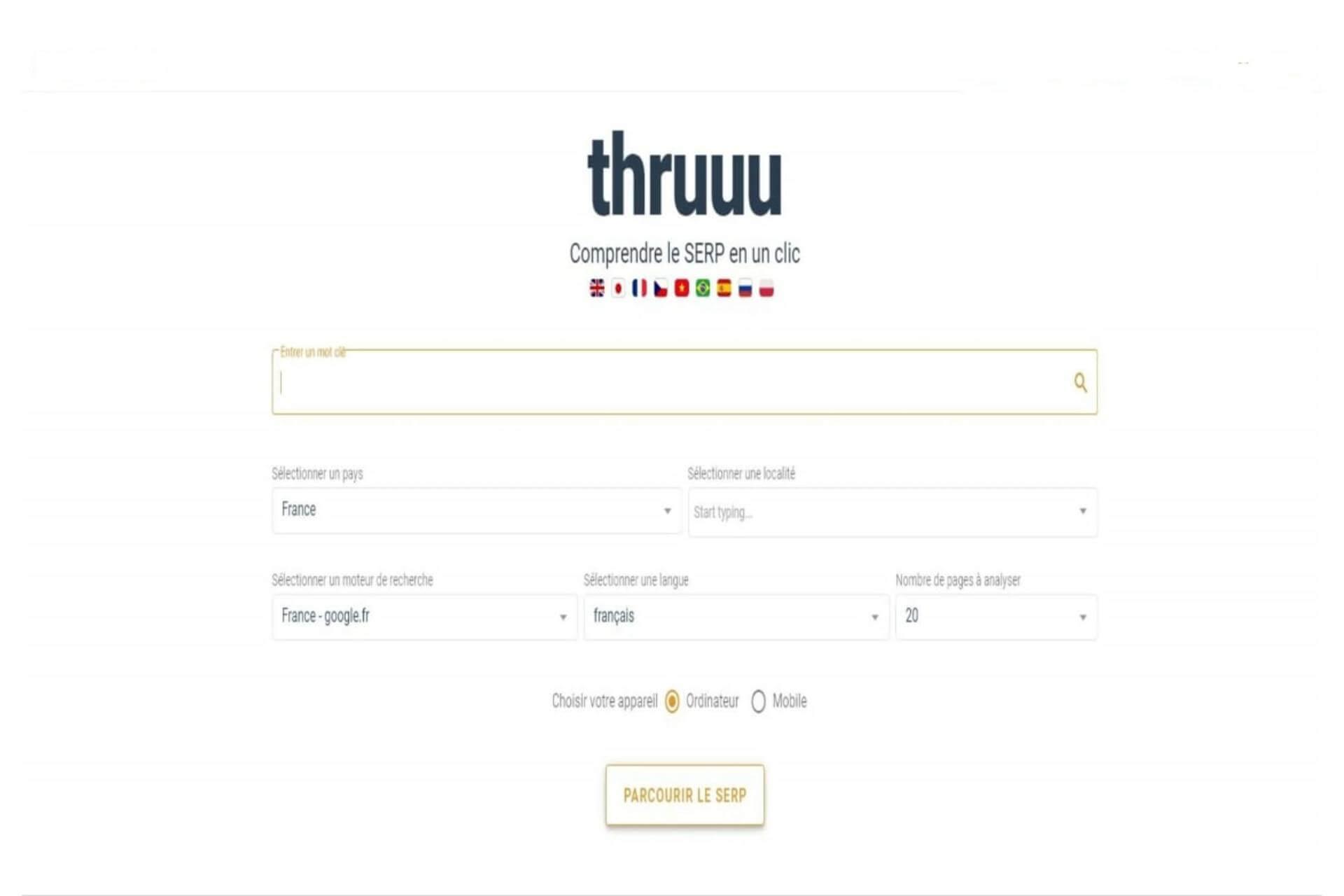 Thruuu : l'analyseur de la SERP de Google