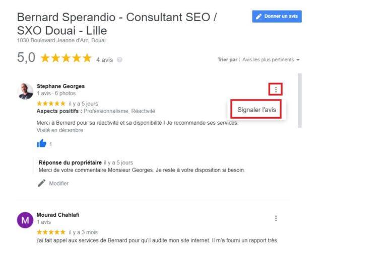Signaler à Google un faux avis client