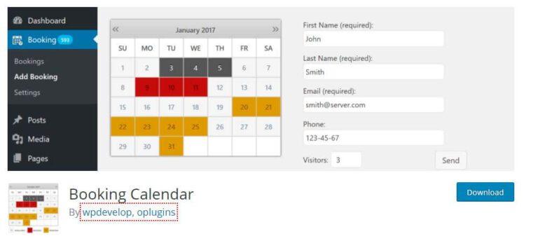 Plugin WordPress Booking Calendar
