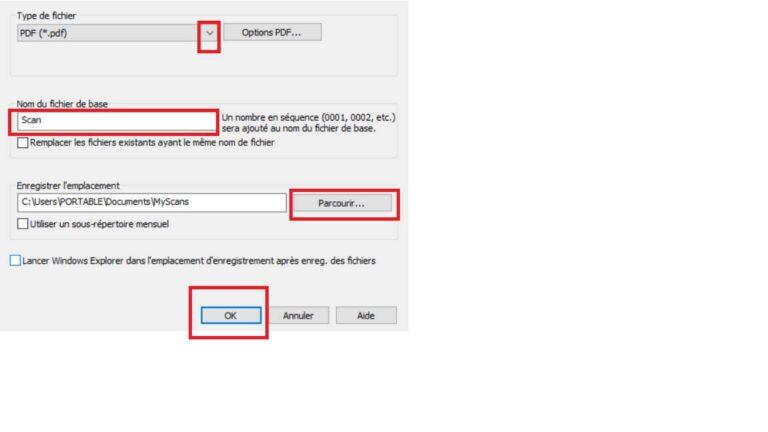 Modification nom du fichier PDF et emplacement