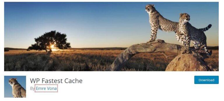 Plugin WordPress WP Fastest Cache