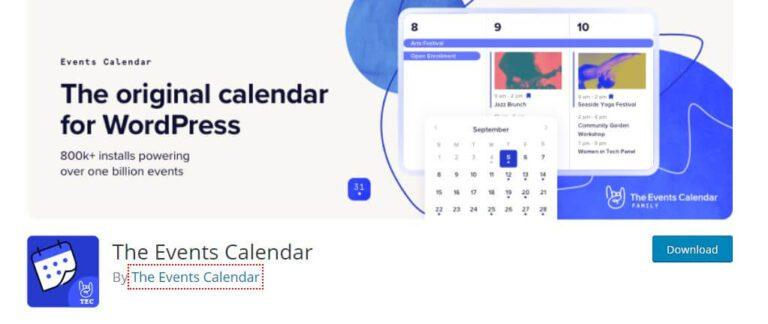 Plugin WordPress The Events Calendar