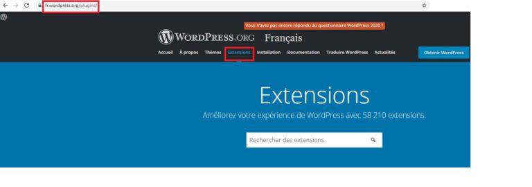 Répertoire des extensions WordPress