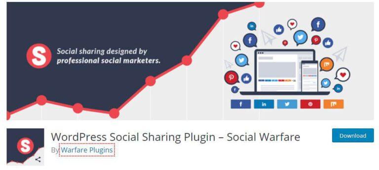 Plugin WordPress Social Warfare