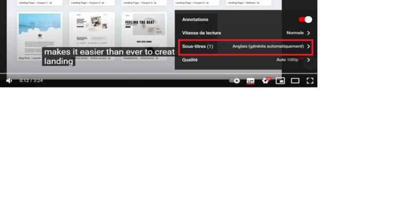 Sous-titres Youtube en Anglais