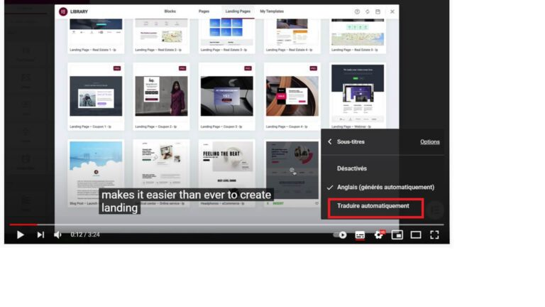 Traduire automatiquement les sous-titres YouTube