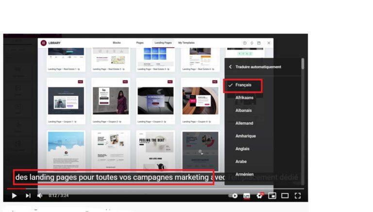 Traduire automatiquement les sous-titres YouTube en français