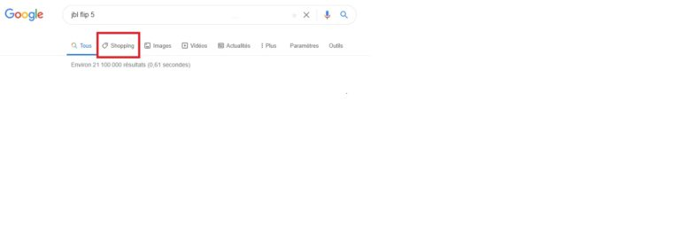 Catégories - Résultats SERP Google - Requête transactionnelle$