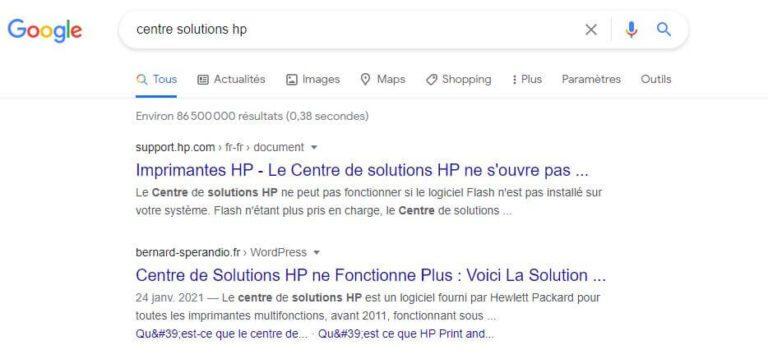 Mot Clé - Centre solutions HP