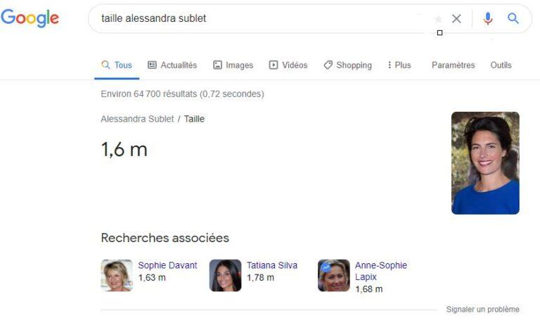 Réponse Google à une requête Know Simple