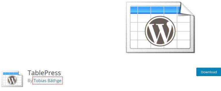 Plugin WordPress TablePress