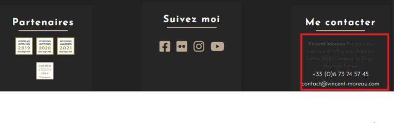 Informations NAP - Vincent Moreau