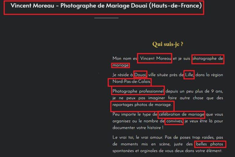 Bons mots-clés Locaux - Vincent Moreau