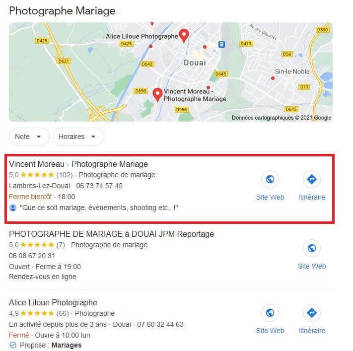 Pack local Google - Vincent Moreau