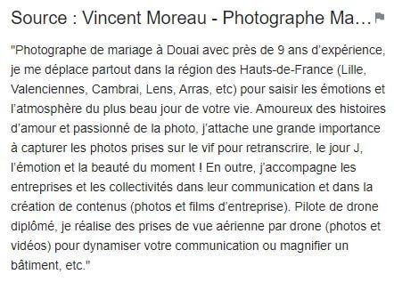 Panneau de connaissances - Vincent Moreau