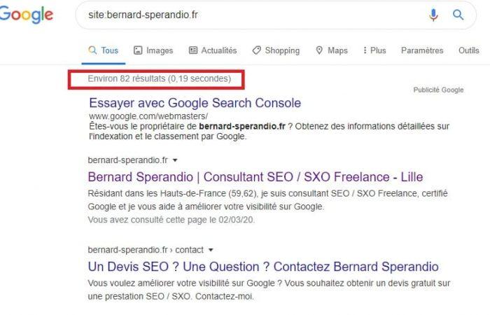 Commande Google